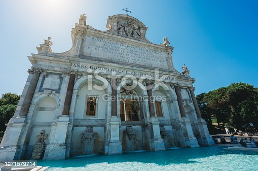 Fontana dell'Acqua Paola in Rome, also know as