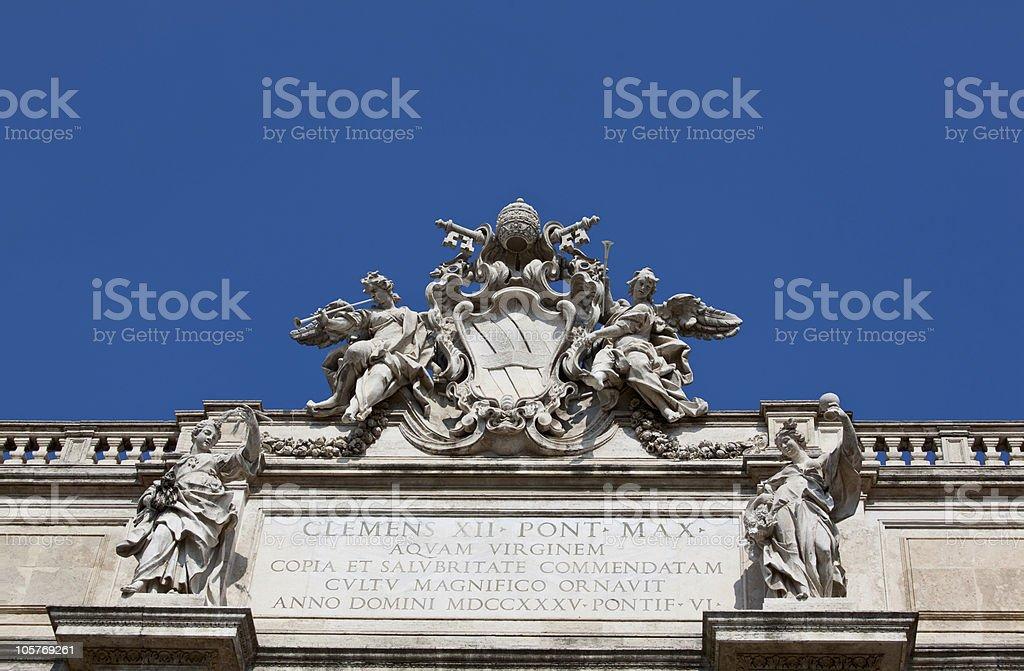 Fontana di Trevi in Rome royalty-free stock photo