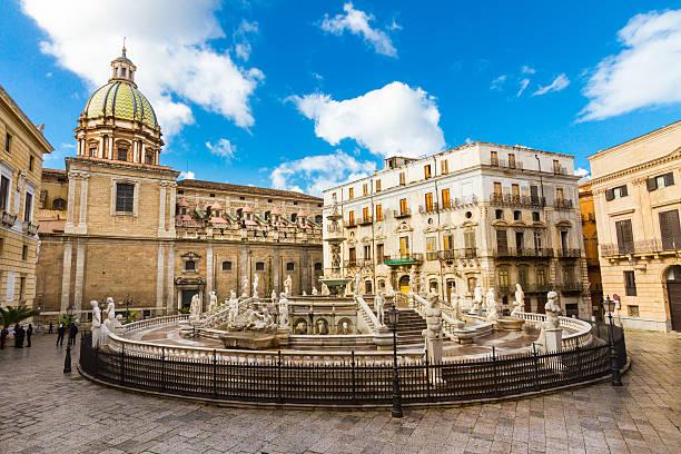 Fontana Pretoria in Palermo, Sizilien, Italien – Foto