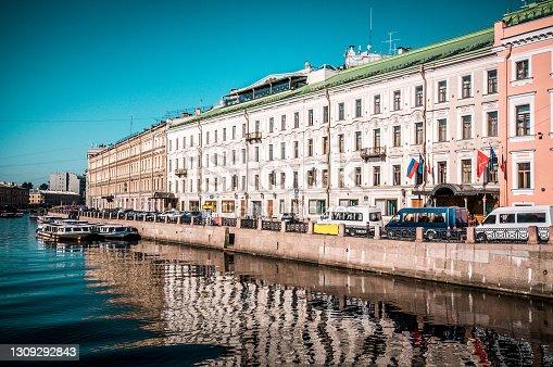 Fontanka River In St. Petersburg, Russia