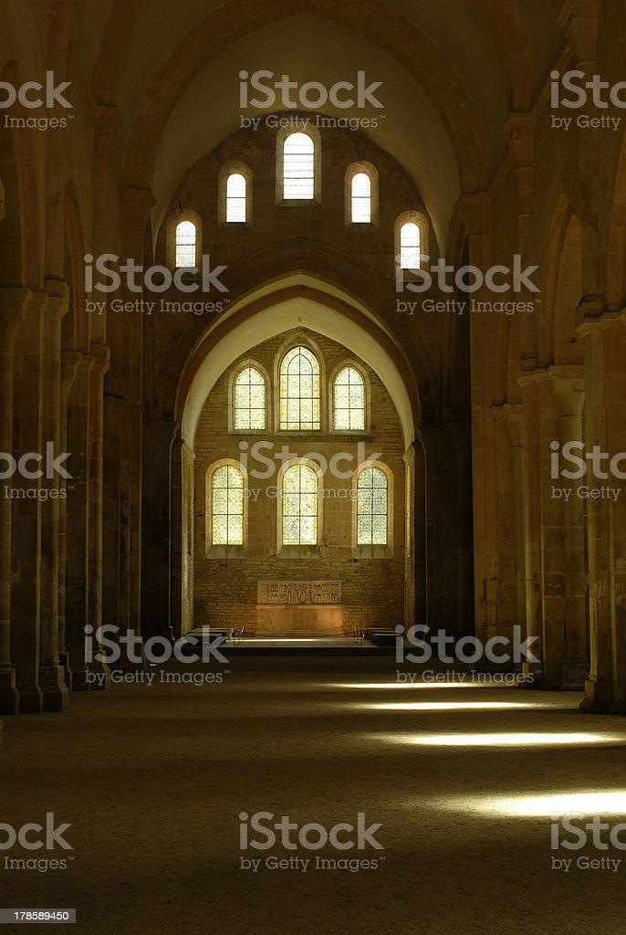 Fontenay - Abbey in Burgundy/France stock photo
