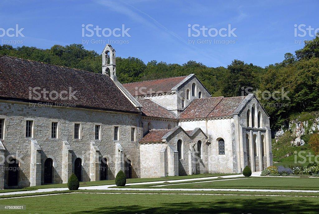 Fontenay abbey stock photo