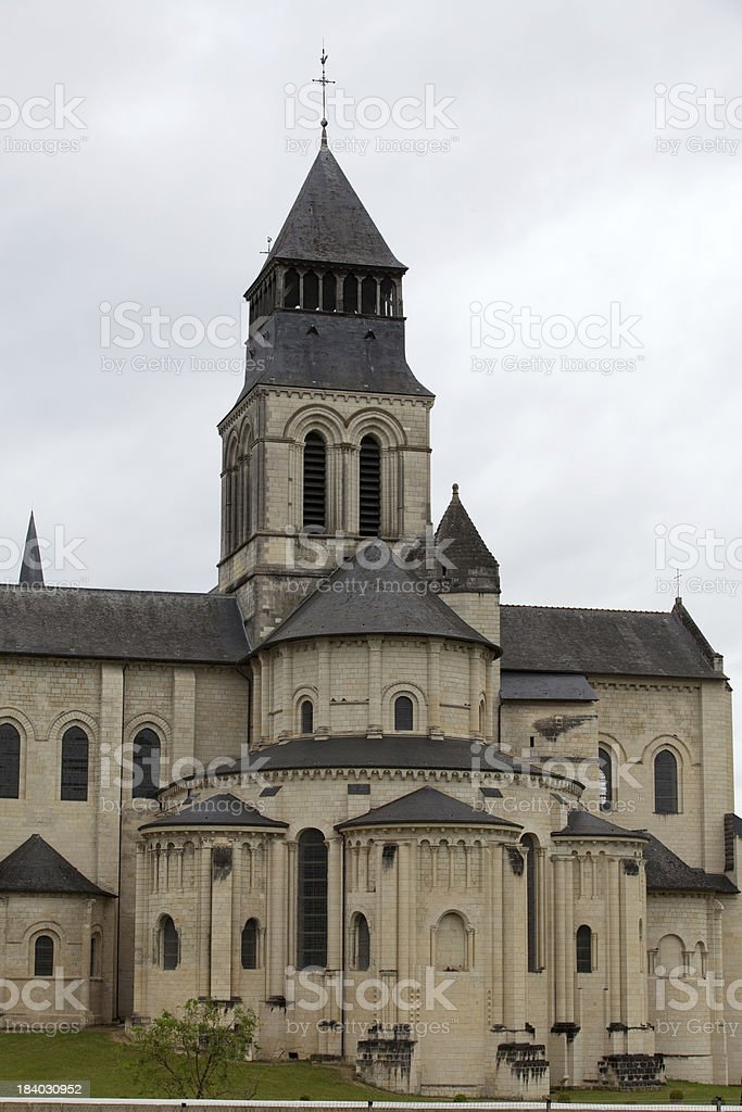 Fontevraud Abbey stock photo