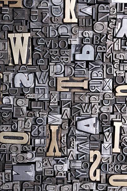 fonts bacground stock photo