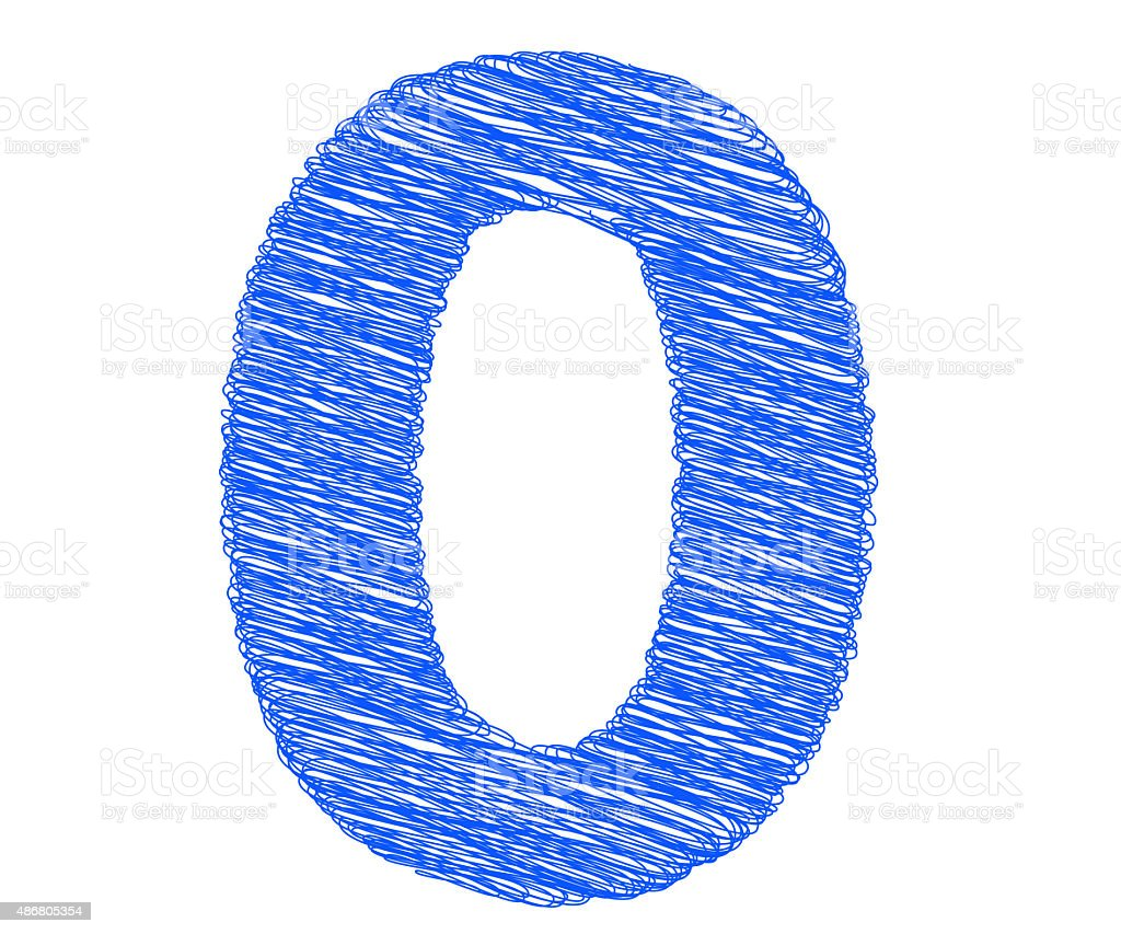 Fonts Stripes Blue Line Number 0 Letter Stock Photo More Pictures
