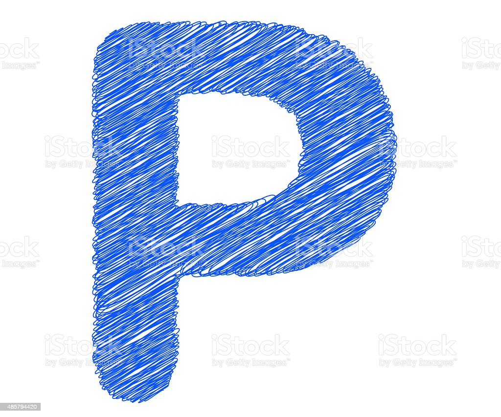 Fonts Stripes Blue Line P Letter Stock Photo More Pictures Of 2015