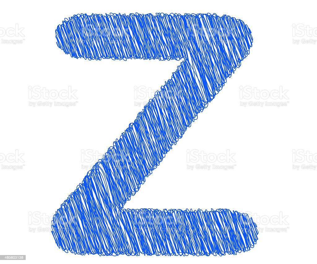 Fonts Stripes Blue Line Z Letter Stock Photo Istock