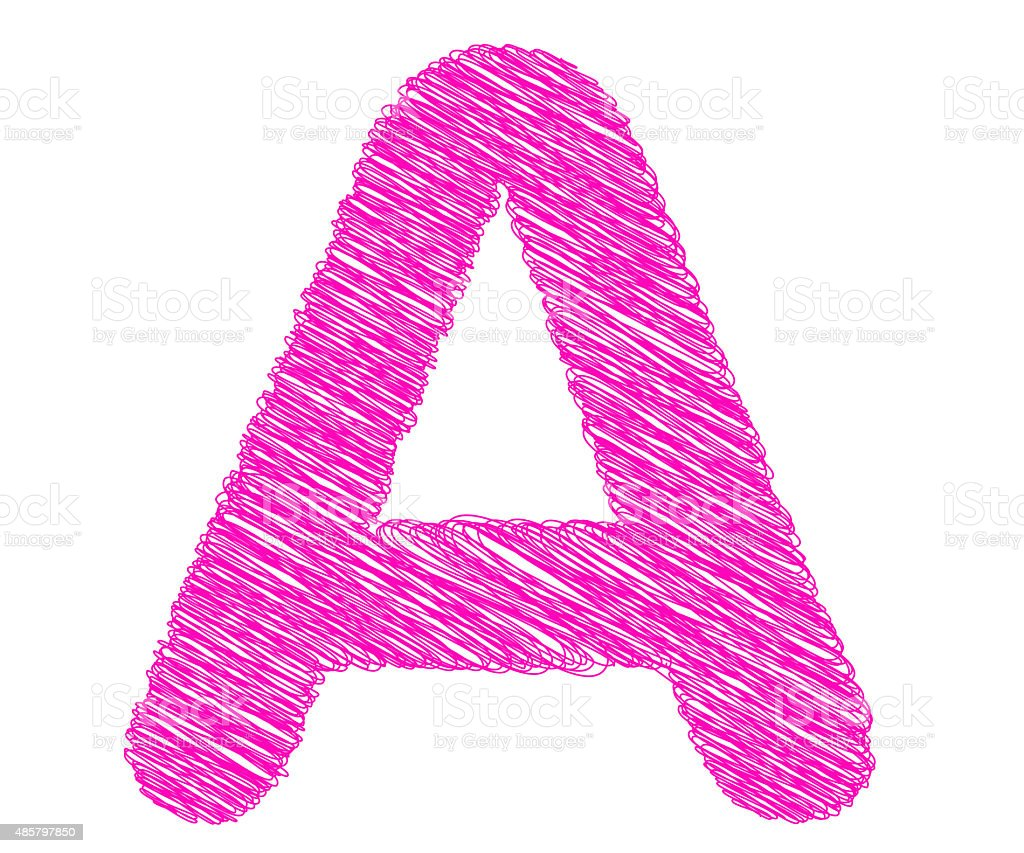 Fonts Stripes Pink Line A Letter Stock Photo  More Pictures Of