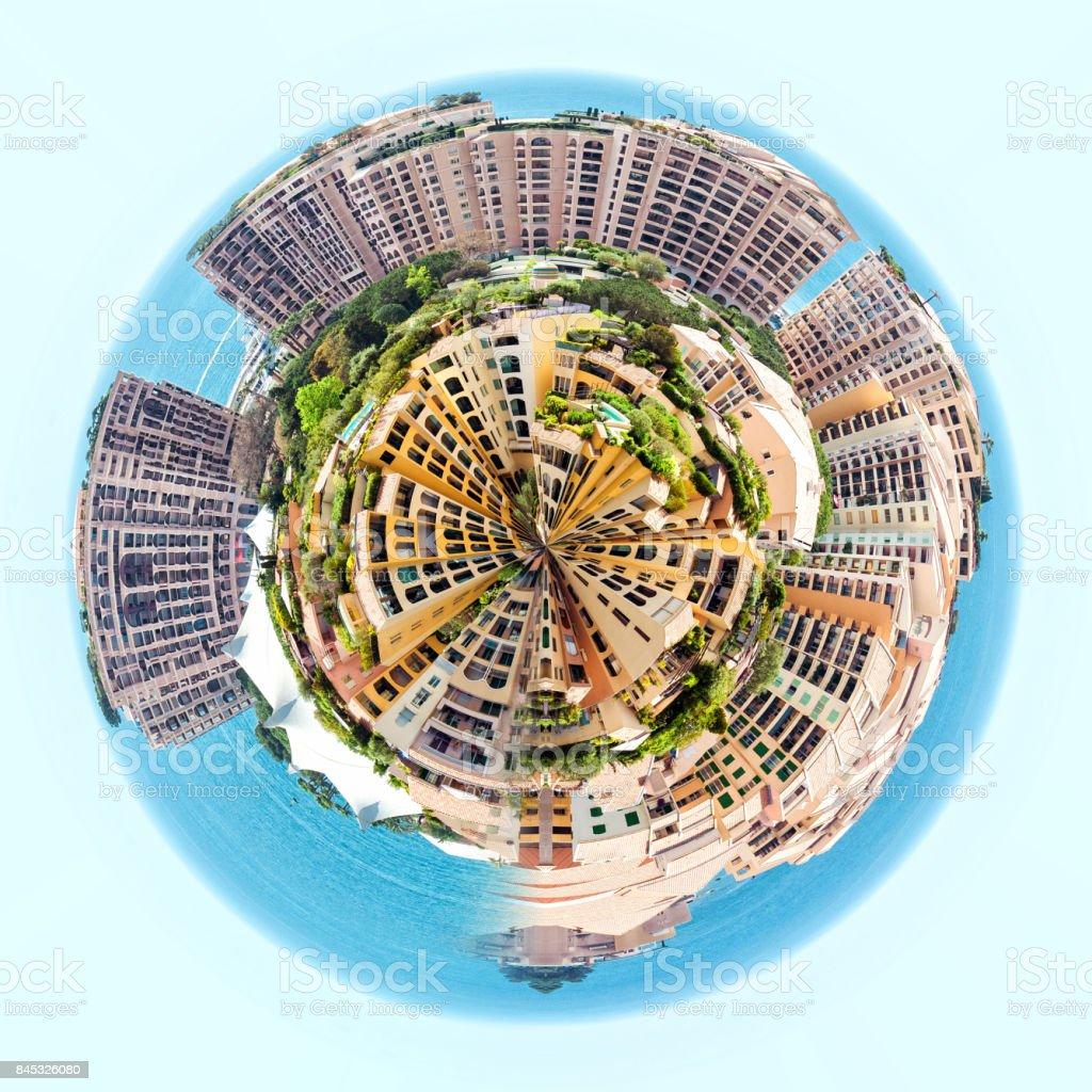 Fontvieille cityscape stock photo
