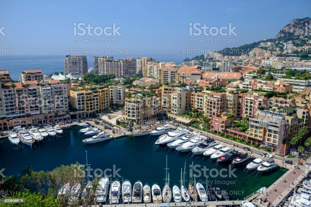 Fontvieille Monte Carlo stock photo
