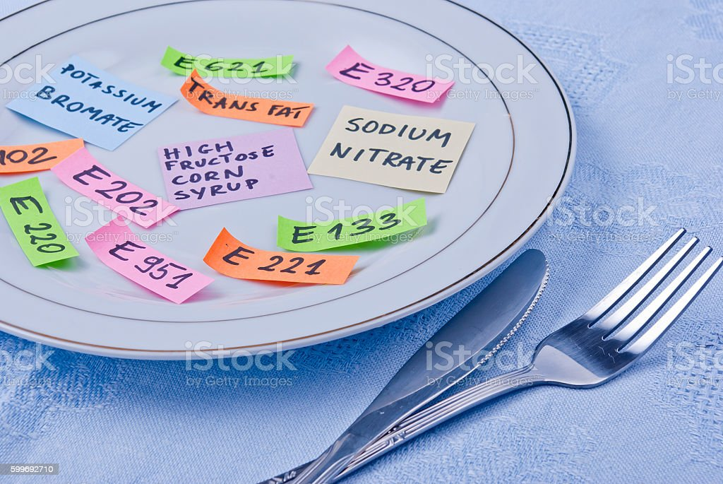 Food additives stock photo