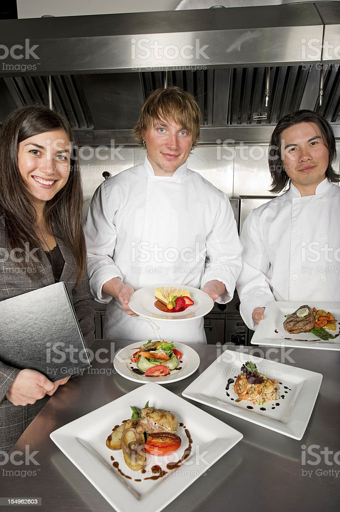 Food and Beverage Team royalty-free stock photo