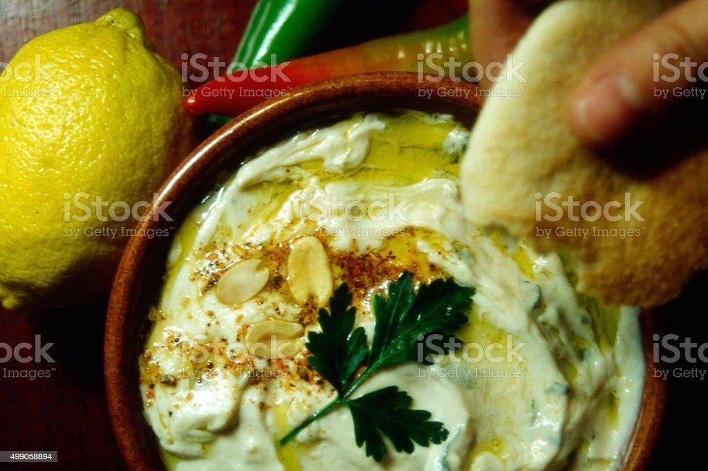 Food and Cuisine - Hummus stock photo