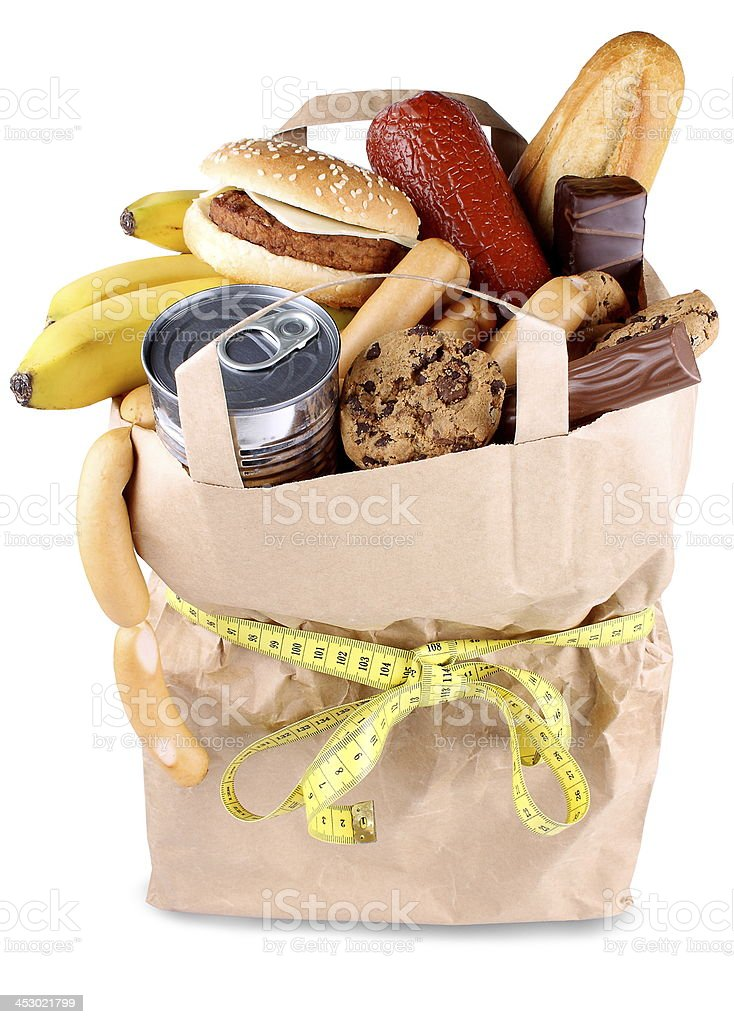 Food and diet concept, consume less eating royalty-free stock photo