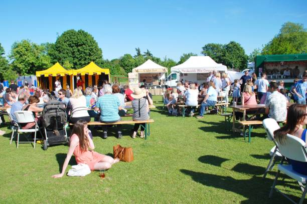 Food and Drink Festival, Tenterden stock photo