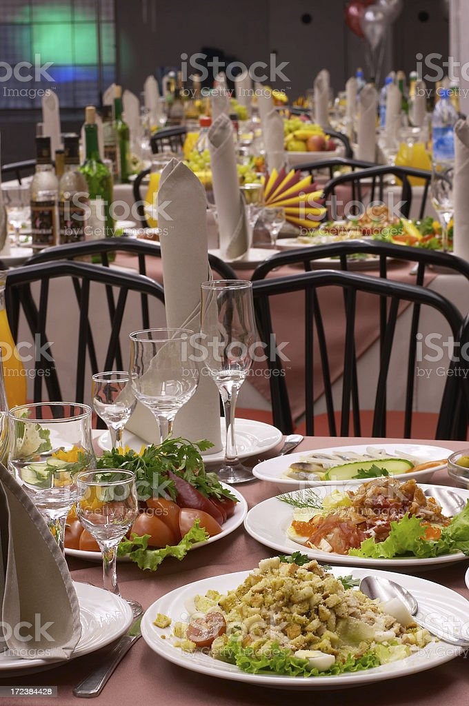 Food And Drink Industry Banquet royalty-free stock photo