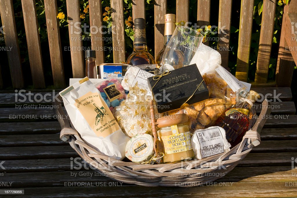 Food and drink made in Cornwall, Devon stock photo