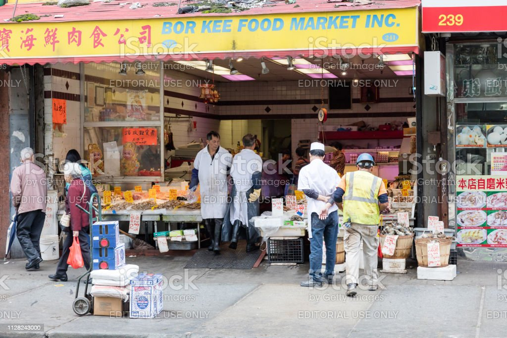 Food And Fish Market At Chinatown In New York City Stock Photo Download Image Now Istock