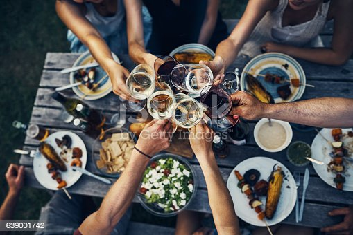 istock Food and wine brings people together 639001742
