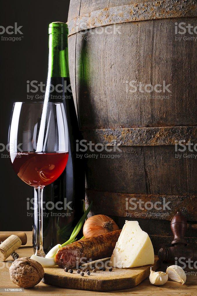 Food and wine stock photo