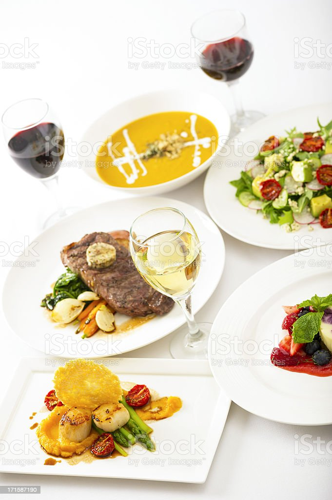 Food and Wine royalty-free stock photo
