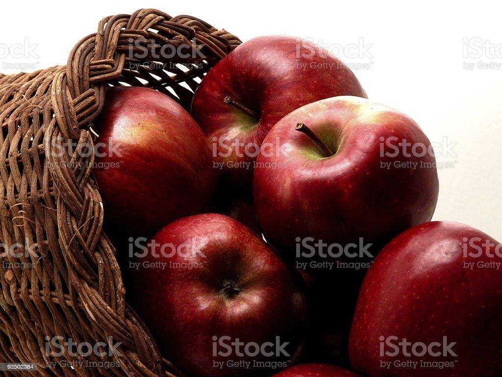 Food: Apple Basket (1 of 4) royalty-free stock photo