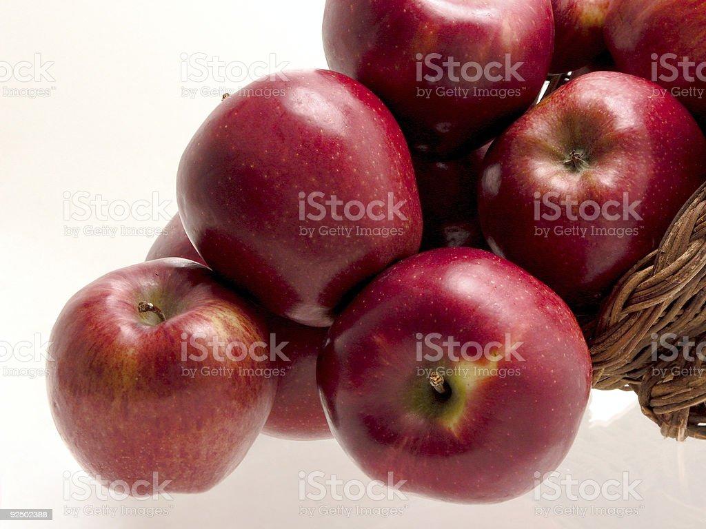Food: Apple Basket royalty-free stock photo