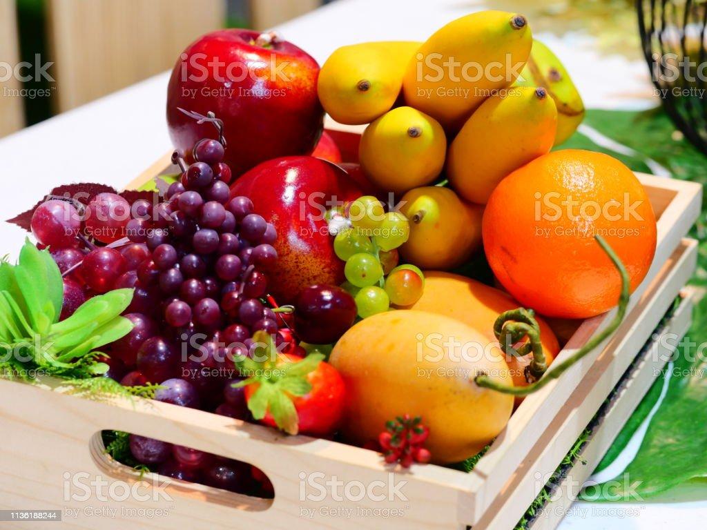 Food, Apple - Fruit, Banana, Basket, Fruit stock photo