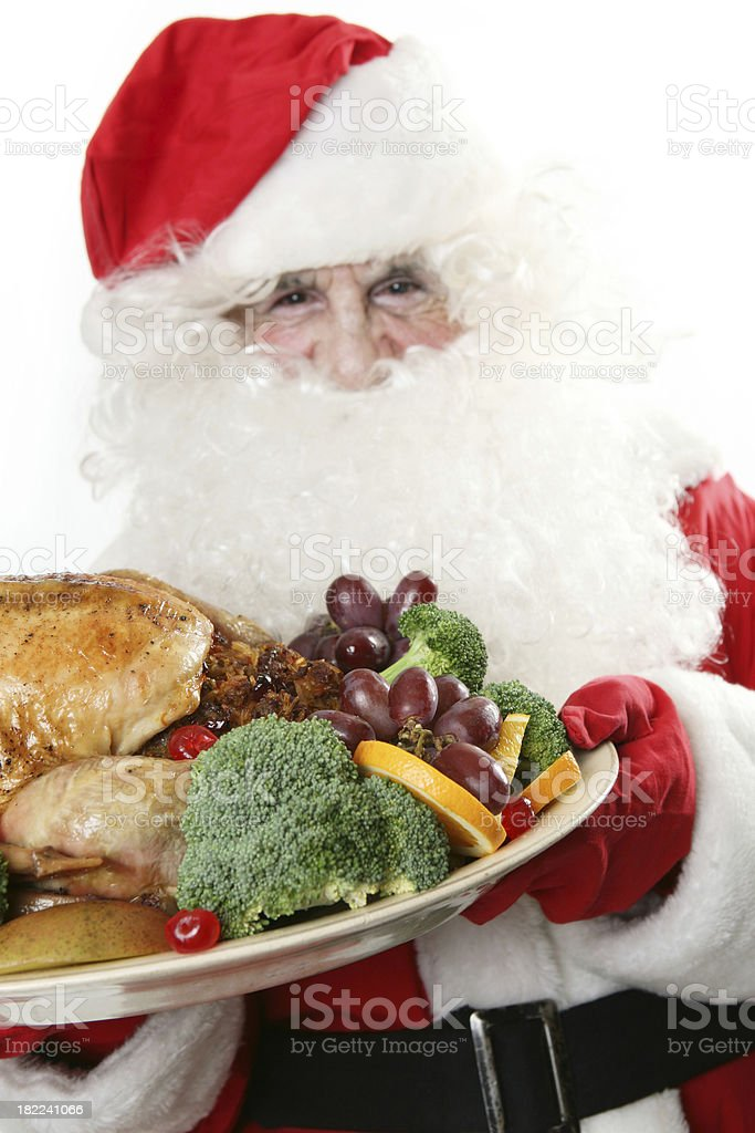 Food as Christmas present royalty-free stock photo