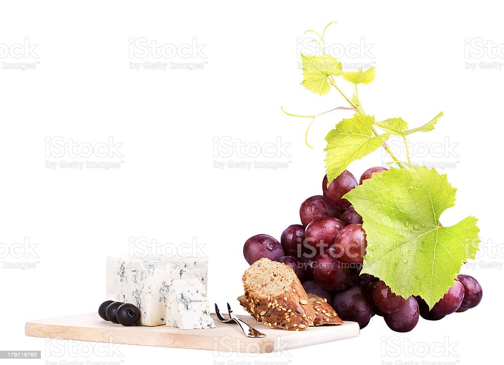 food assortment for red wine royalty-free stock photo