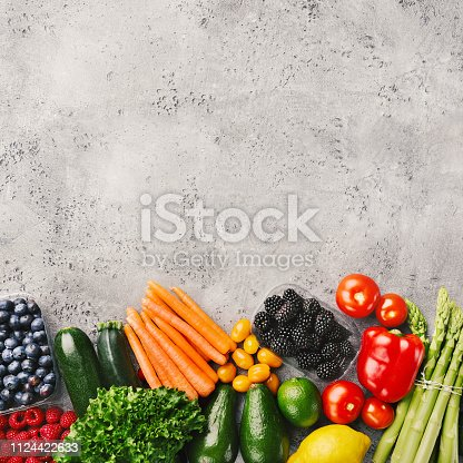 istock Food background on grey 1124422633