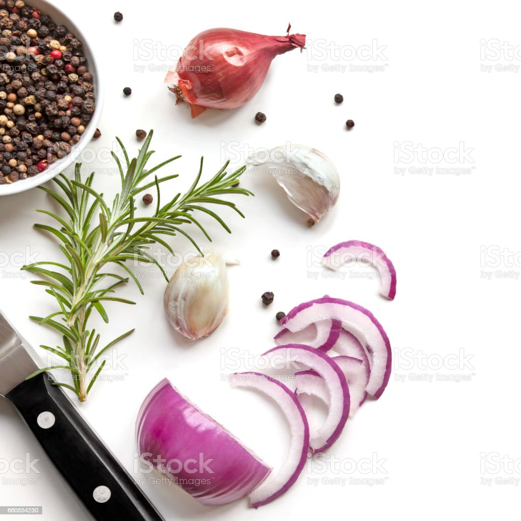 Food Background Top View stock photo