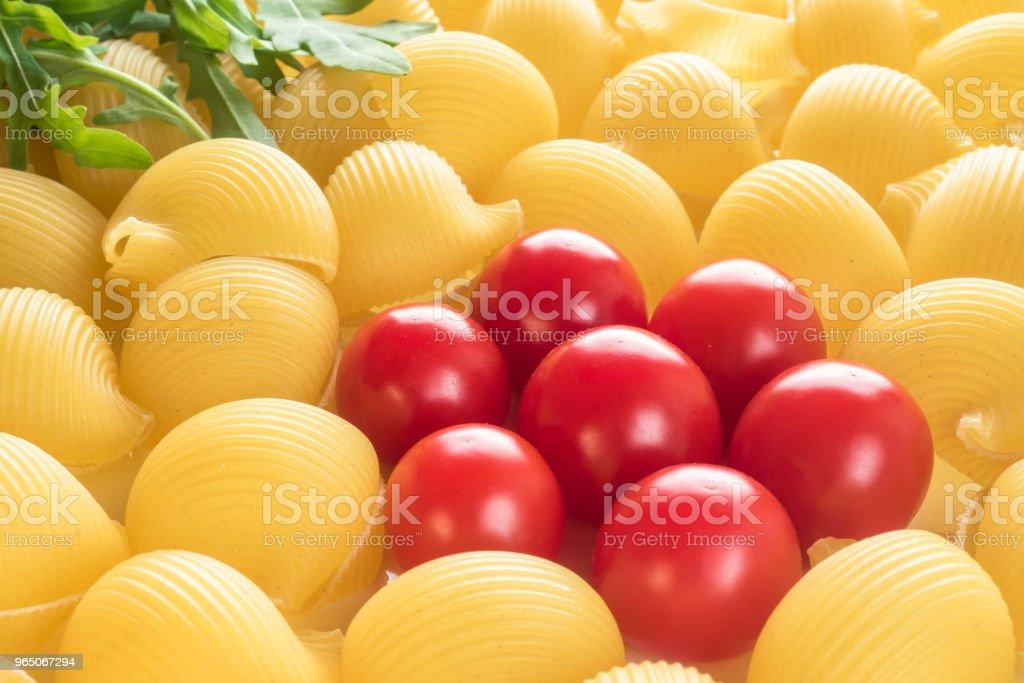 Food background Uncooked Macaroni Lumaconi royalty-free stock photo