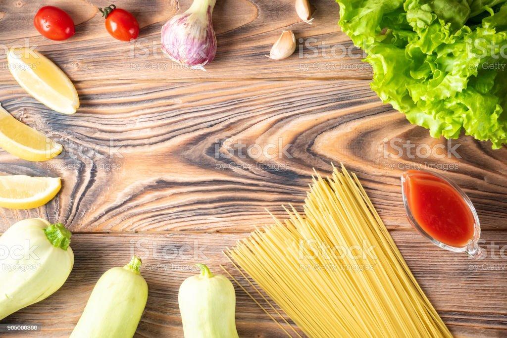 Food background Uncooked Pasta Macaroni Spaghetti Cappellini royalty-free stock photo