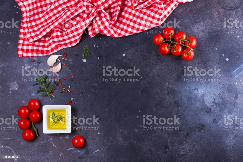 Food background with spices stock photo