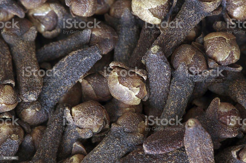 Food Backgrounds - Cloves(Fullframe Macro) royalty-free stock photo