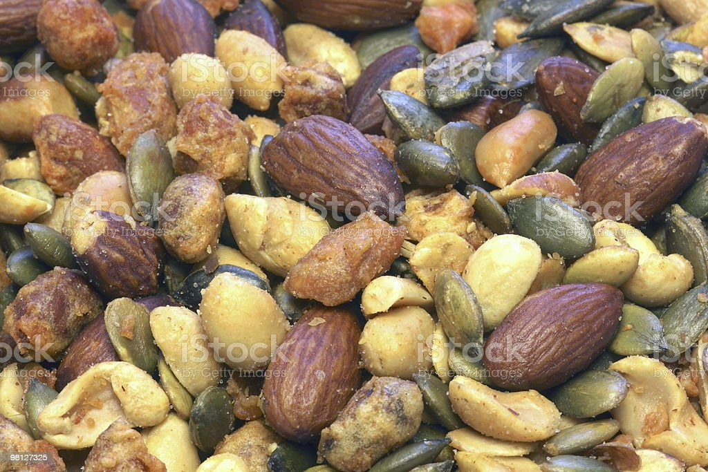 Food Backgrounds - Mixed Nuts(Fullframe) royalty-free stock photo