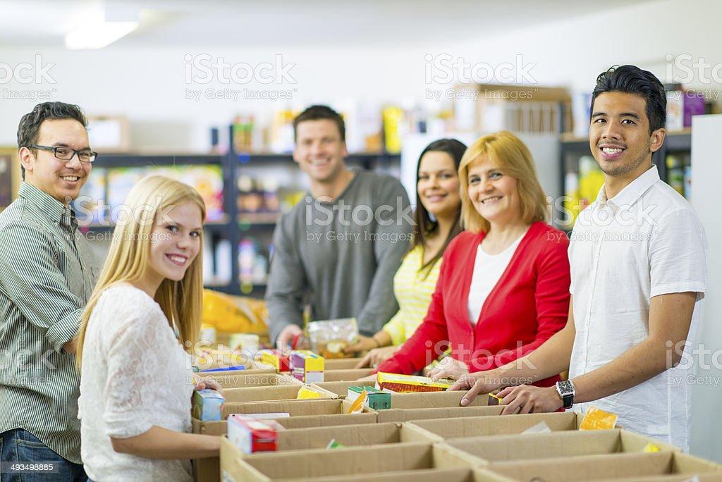 Food Bank Volunteers stock photo