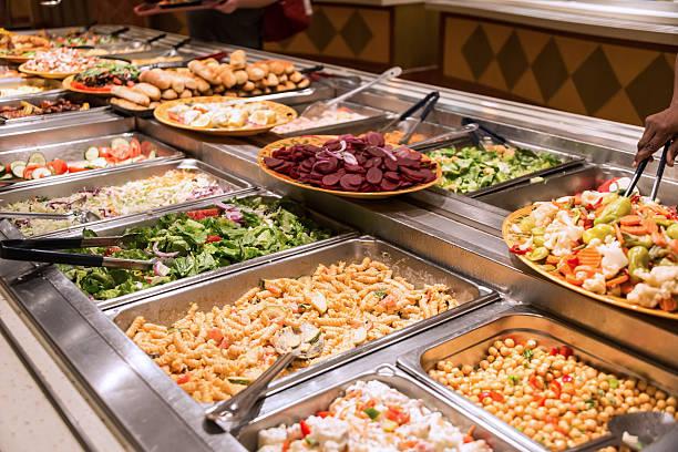 food bar - pasta deli stock-fotos und bilder