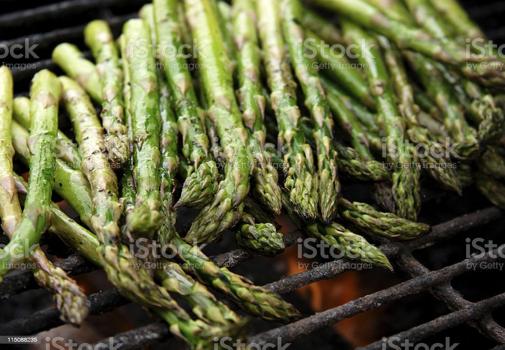 food bbq grilled asparagus stock photo