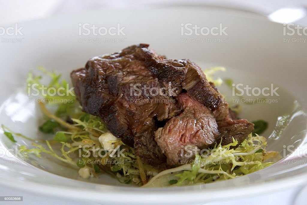 Food - Beef on Mixed Greens royalty-free stock photo