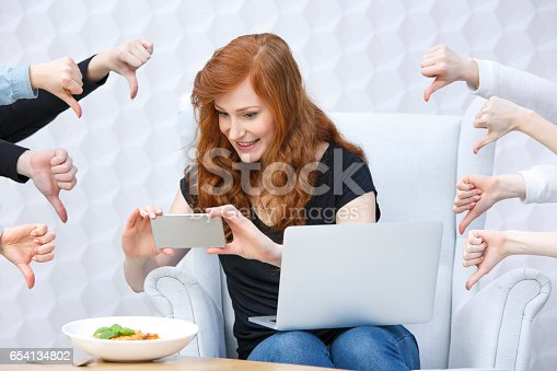 istock Food blogger taking picture 654134802