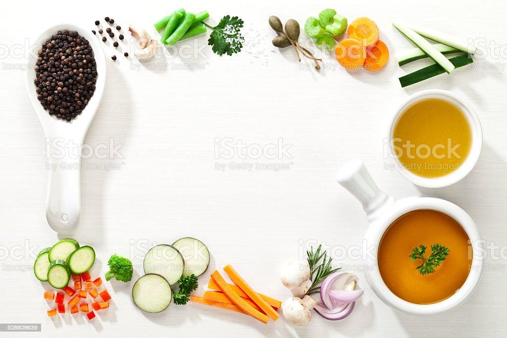 Food border stock photo