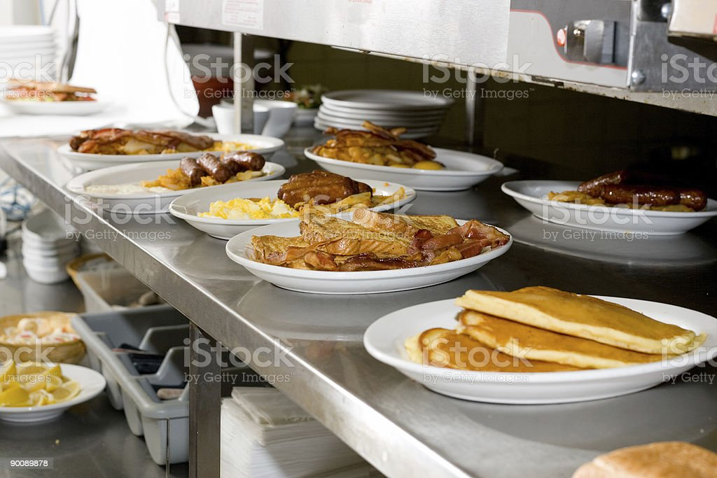 Food - Breakfast Restaurant Kitchen royalty-free stock photo