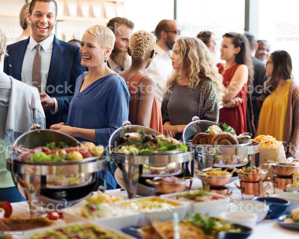 Food Brunch Cafe Catering Dining Cheers Event Concept stock photo