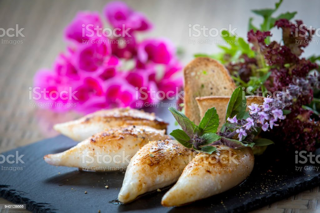 food calamari stock photo