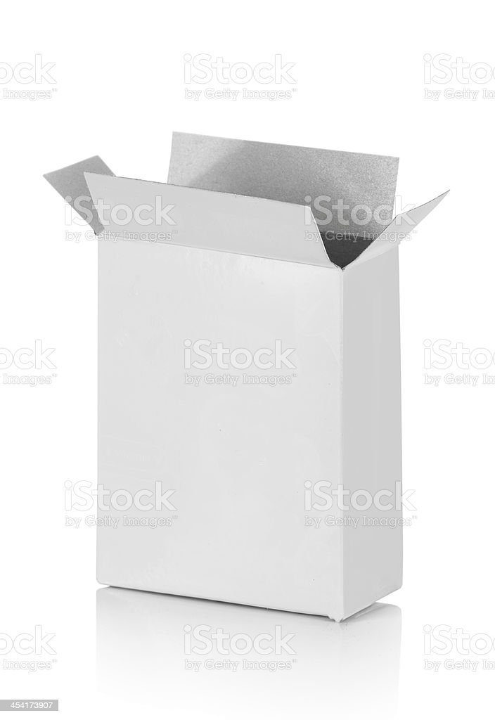Food cardboard box stock photo