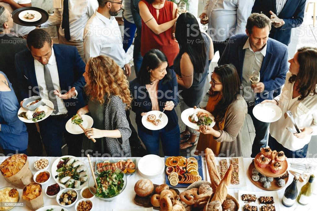 Comida Catering cocina culinaria Gourmet Buffet fiesta concepto - foto de stock