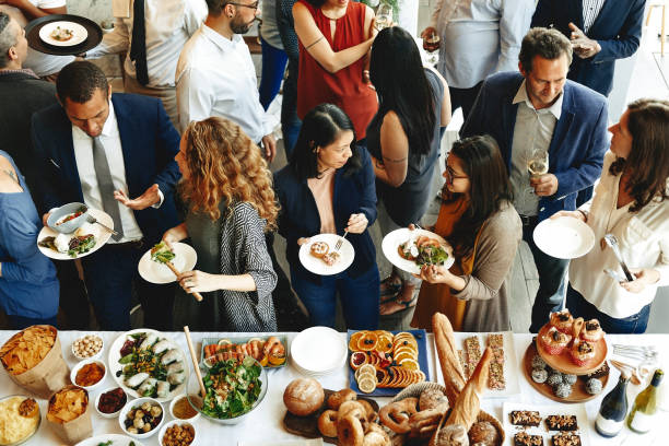 food catering cuisine culinary gourmet buffet party concept - event stock pictures, royalty-free photos & images