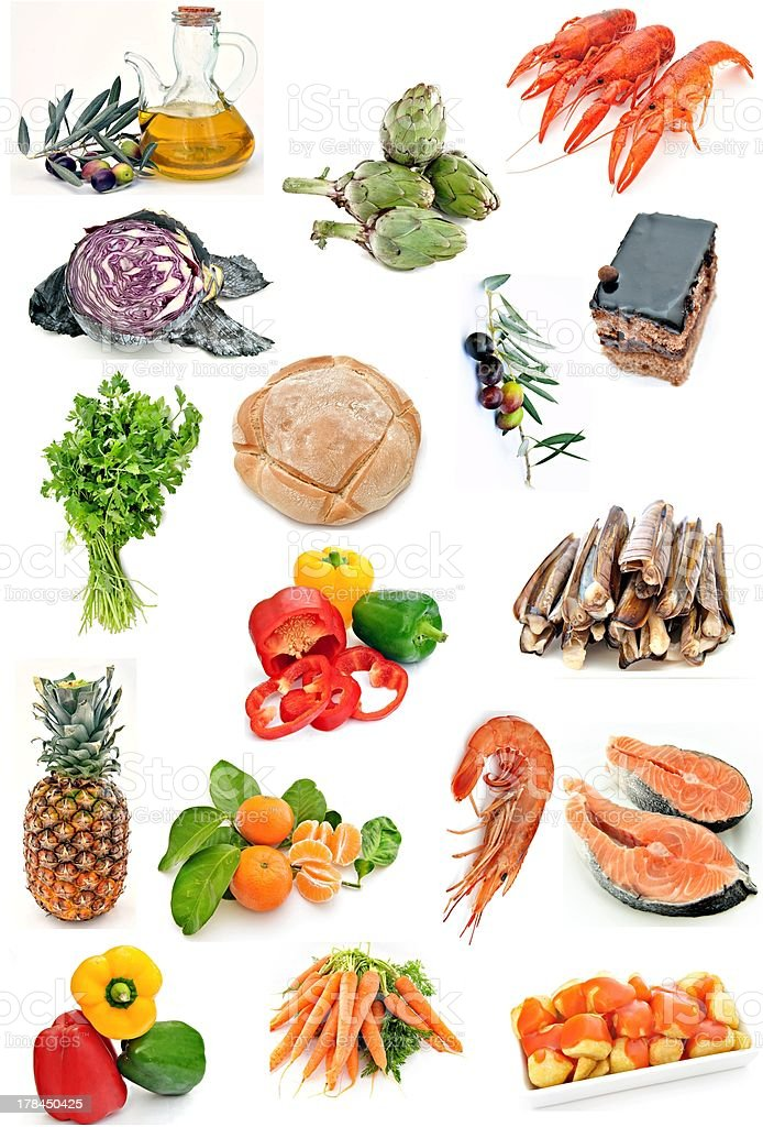 Food collage royalty-free stock photo